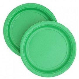 Plates-BEV-Festive Green-24pkg-Paper
