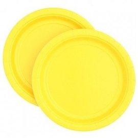 Plates-BEV-Yellow Sunshine-20pkg-Paper
