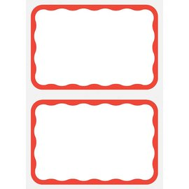 Name Tag-Red Border-100pk/3.25''