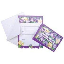 Invitations-Crocus Flowers-8pk