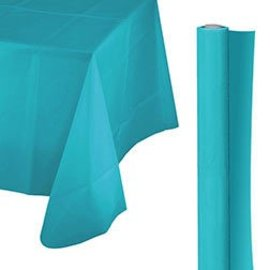 Tablecover Roll-Caribbean Blue-100Ft-Plastic