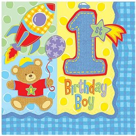 Napkins-LN-Hugs and Stitches Boy-16pk-2ply - Discontinued