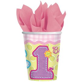 Cups-Hugs And Stitches Girl-Paper-9oz-8pk - Discontinued