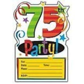 Invitations-75th bday-8pk
