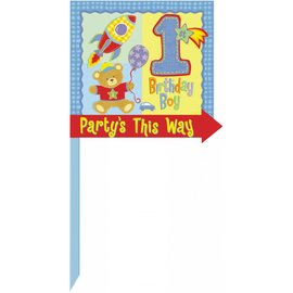 Yard Sign-Directional -Hugs and Stitches Boy-14'' x 15''
