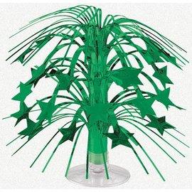 Centerpiece-Cascade-Green Stars-Foil-8.5''