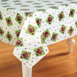 Table Cover-Foot Ball-Plastic-54'' x 102''