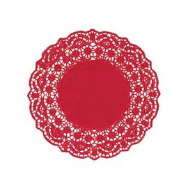 Doilies-Round-Red-8.5''-Foil-9pk