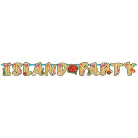 Banner- Luau Party-Paper-6.5'' x 7''