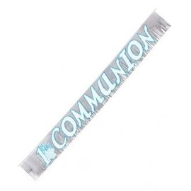 Banner-1st Communion-Glitter Fringed-Foil-8ftx9'' (Seasonal)