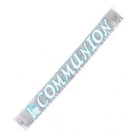 Banner-1st Communion-Glitter Fringed-Foil-8ftx9'' (Seasonal)
