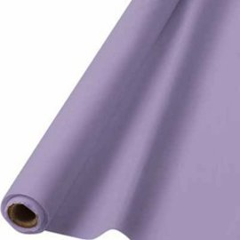 Tablecover Roll-Lavender-100Ft-Plastic