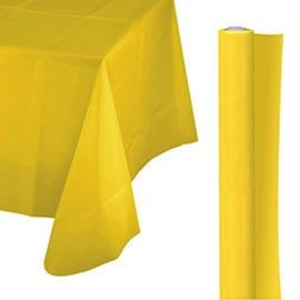 Tablecover Roll-Yellow Sunshine-100Ft-Plastic