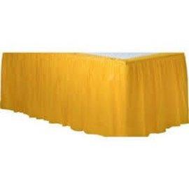 Table Skirt-Rectangular-Yellow Sunshine-Plastic