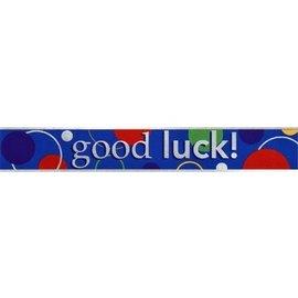 Banner- Good Luck-15ft-Foil