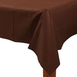 Table Cover-Chocolate Brown-Plastic