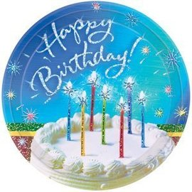 Plate-LN-Sparkle wishes-8pk-Paper - Discontinued