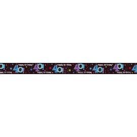 Banner-40th Bday-Foil-12ft