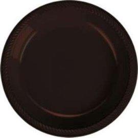 Plates-BEV-Chocolate Brown-20pk-Plastic- Discontinued