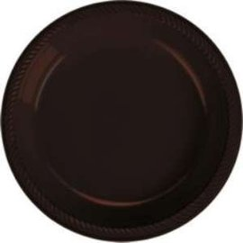Plates-BEV-Chocolate Brown-20pk-Plastic