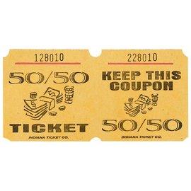 Double Ticket Roll-50/50- 1000 Ticket
