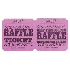 Ticket Roll-Raffle-Double-1000 ticket (Pink)