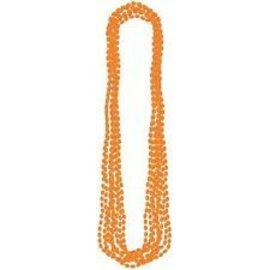 Beads Necklace-Orange-24pk