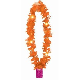 Lei-Tiki-Light Up-Orange