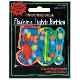 Flashing Button-50!-2.25''