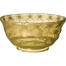 Punch Bowl-Gold/Clear - Large-Plastic-14''