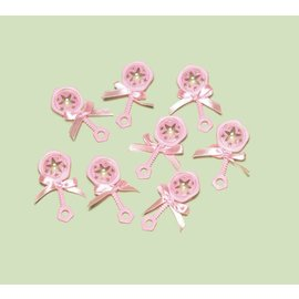 Favor Charms-Baby Shower-Pink-8pk/2.5''
