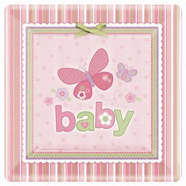 Plates-DN-Carters Baby Girl-8pk-Paper - Discontinued