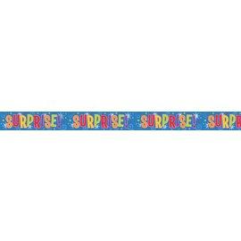 """Foil Banner- Surprise! (12ft x 5"""")"""