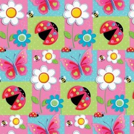 Gift Wrap-Garden Girl-5pk-5ft (Discontinued)