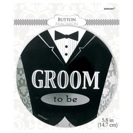 Button- Groom to be-5.8''