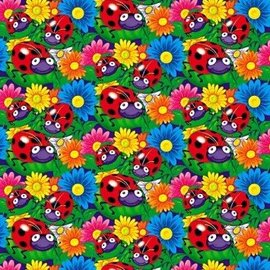 Gift Wrap-Lady Bug-5' x 30''
