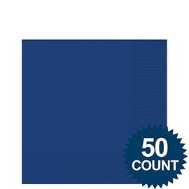 Napkins-BEV-Marine Blue-50pk-2Ply