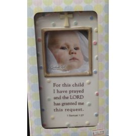 Photo Frame Christian Baby Porcelain Victoria Party Store