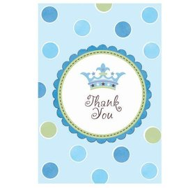 Thank You Cards-Baby Shower Blue-8pk
