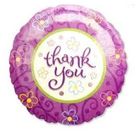 Foil Balloon - Thank You Flowers - 18""