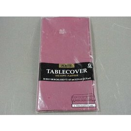 Table Cover-Rect-Burgundy-Plastic-54'' x 108''