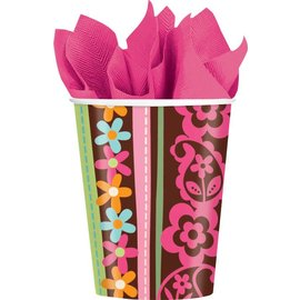 Cups-Hippie Chick-Paper-9oz-8pk - Discontinued