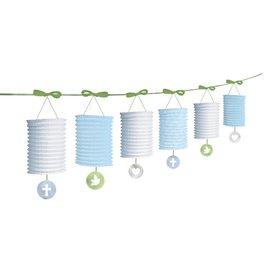Lantern Garlands-Christening Blue-12ft