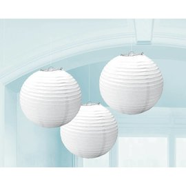 Paper Lanterns- White-3pk-9.5''