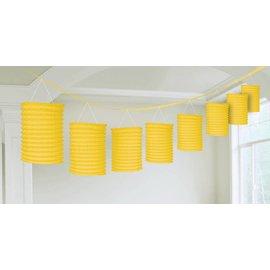 Paper Lantern Garland- Yellow-12ft