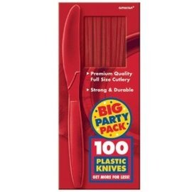 Knives-Premium-Apple Red-Box/100pkg-Plastic