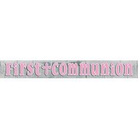 Banner-First Communion Pink-8.75ft x 12'' (Seasonal)