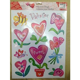 Window Stickers-Valentine's Day-Flowers and Bees