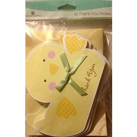 Thank You Cards-Duck-8pk