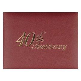 Guest Book- 40th Anniversary-8.25''x6.25''